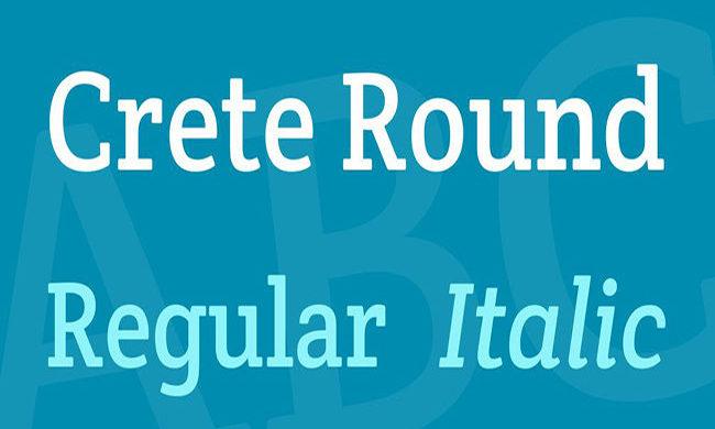 Crete Round Font Family Free Download