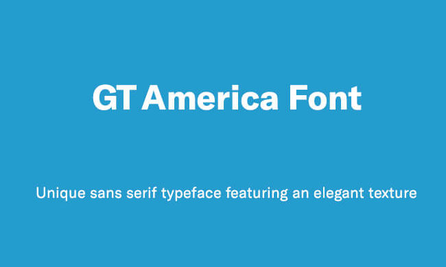 GT America Font Family Free Download