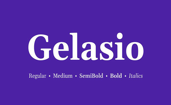 Gelasio Font Family Free Download
