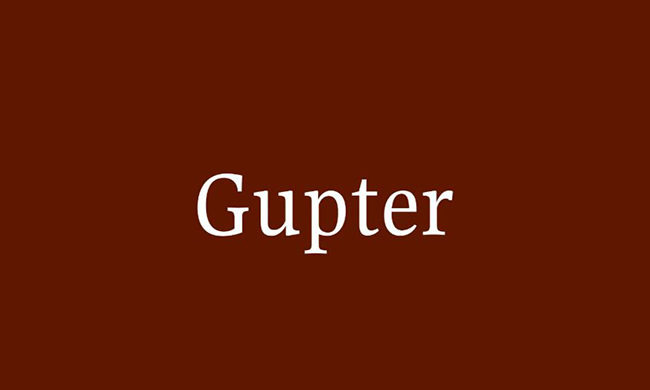 Gupter Font Family Free Download