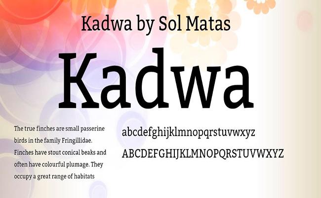 Kadwa Font Free Download