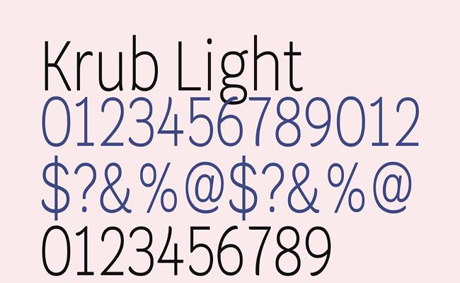 Krub-Font-Family-Download