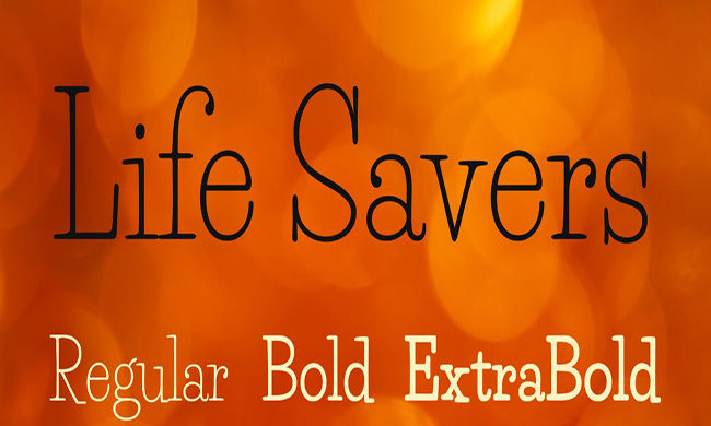 Life Savers Font Family Free Download