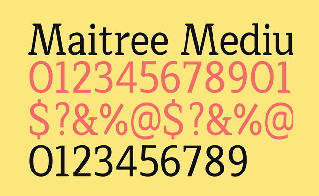 Maitree Font Free Download