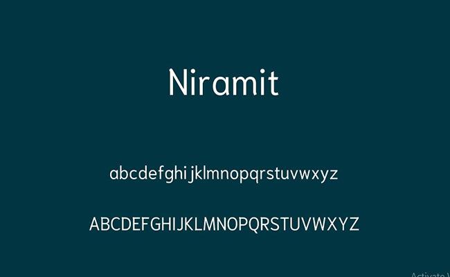 Niramit Font Free Download