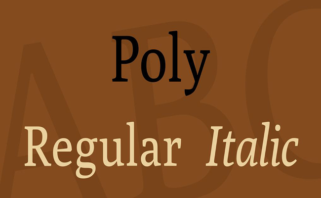 Poly Font Family Free Download