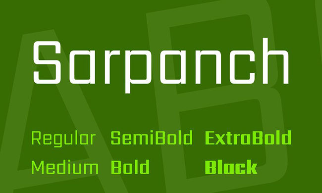 Sarpanch Font Family Free Download