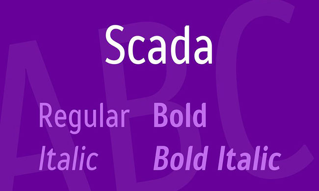 Scada Font Family Free Download