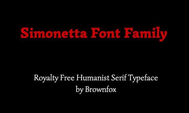 Simonetta Font Family Free Download