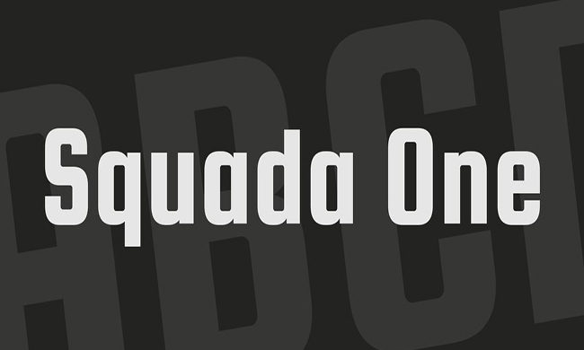 Squada One Font Family Free Download