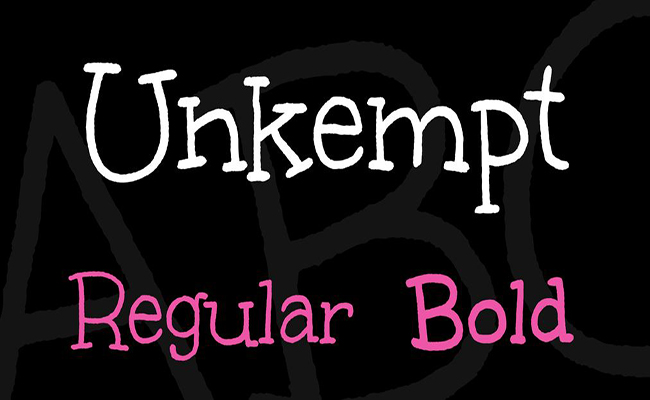 Unkempt Font Family Free Download