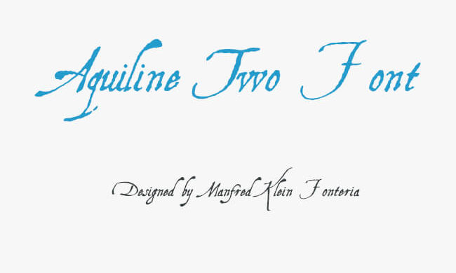 Aquiline Two Font Family Free Download