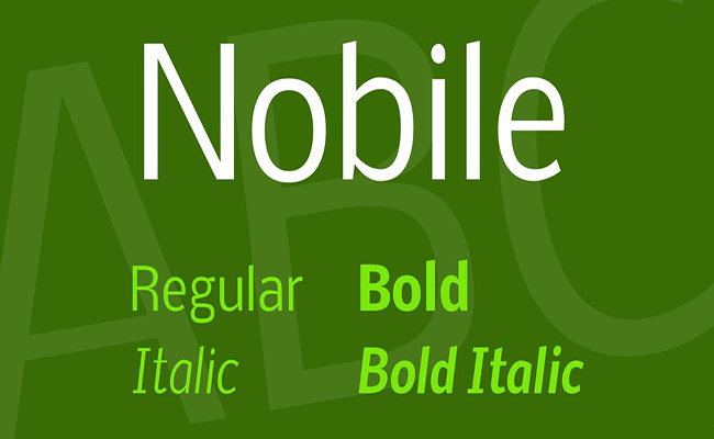 Nobile Font Family Free Download