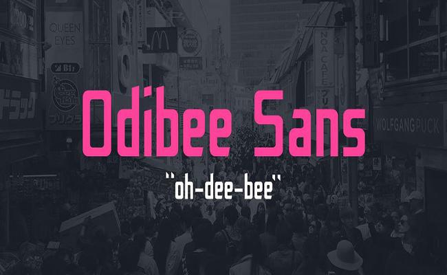 Odibee Sans Font Family Free Download