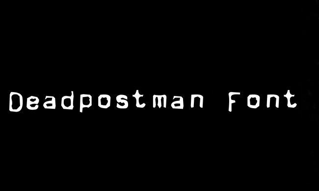 Deadpostman Font Family Free Download