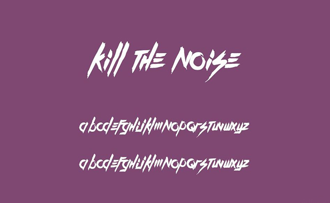 Kill The Noise Font Free Download