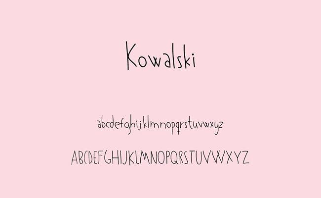 Kowalski Font Family Free Download