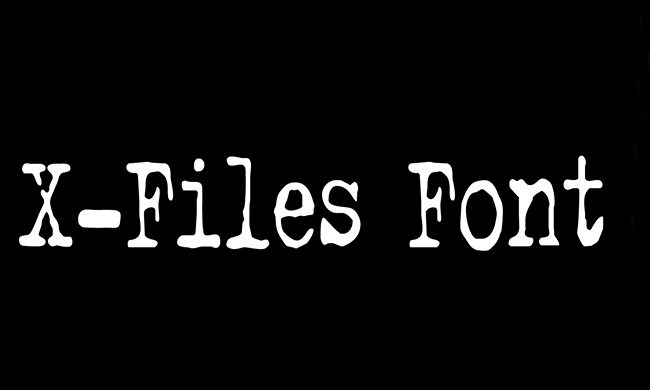 X-Files Font Family Free Download