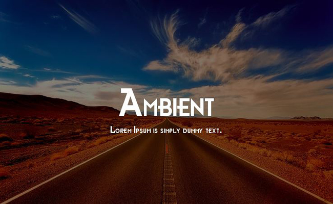 Ambient Font Free Download