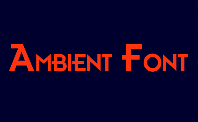 Ambient Font Family Free Download