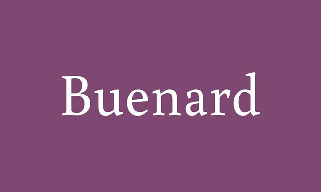 Buenard Font Family Free Download