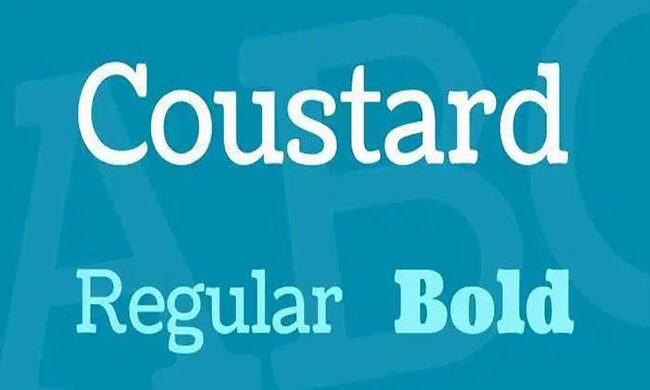 Coustard Font Family Free Download