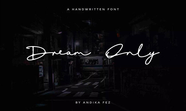 Dream Only Font Family Free Download