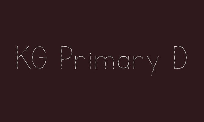KG Primary Dots Font Family Free Download