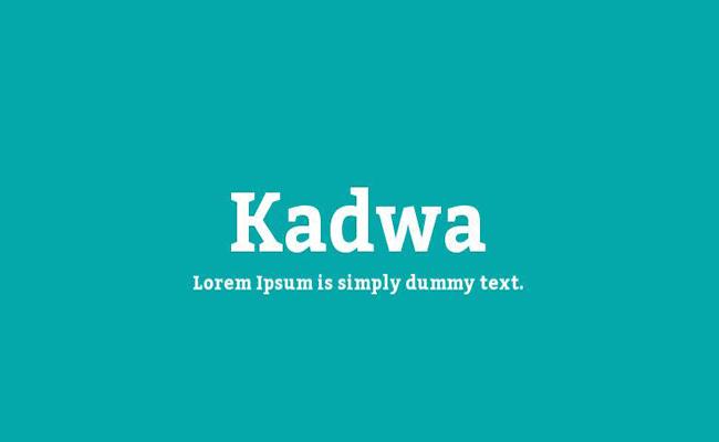 Kadwa Font Family Free Download