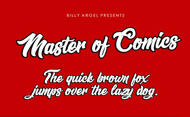 Master Of Comics Font Family Free Download
