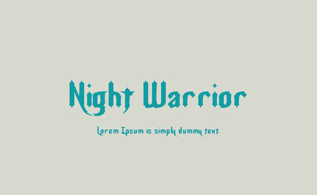 Night Warrior Font Family Free Download