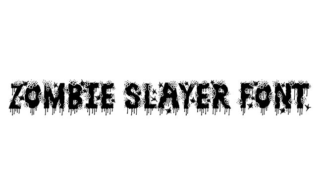 Zombie Slayer Font Family Free Download