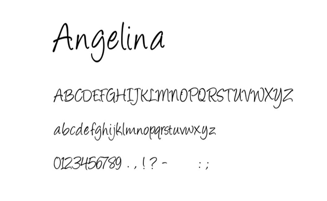 Angelina-Font-Family-Download