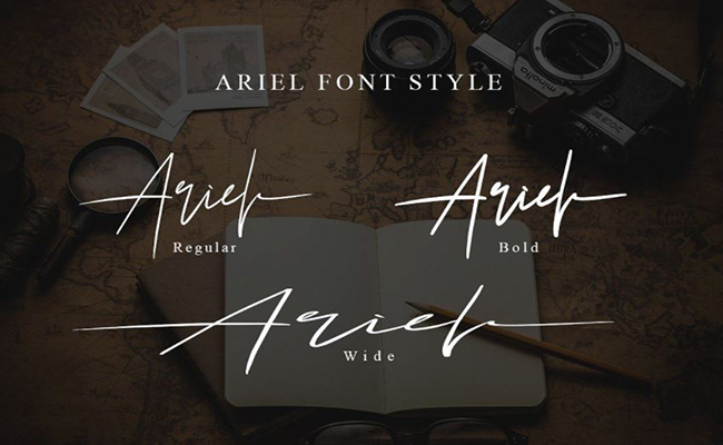 Ariel-Signature-Font-Family-Download
