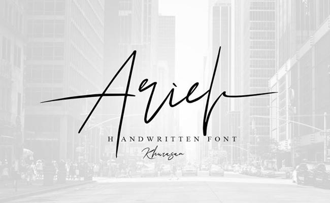 Ariel Signature Font Family Free Download