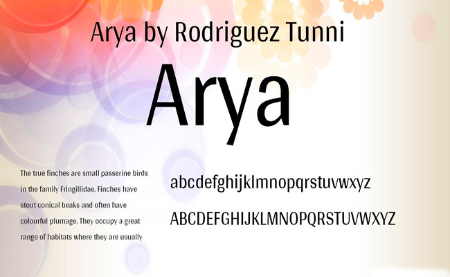 Arya Font Free Download