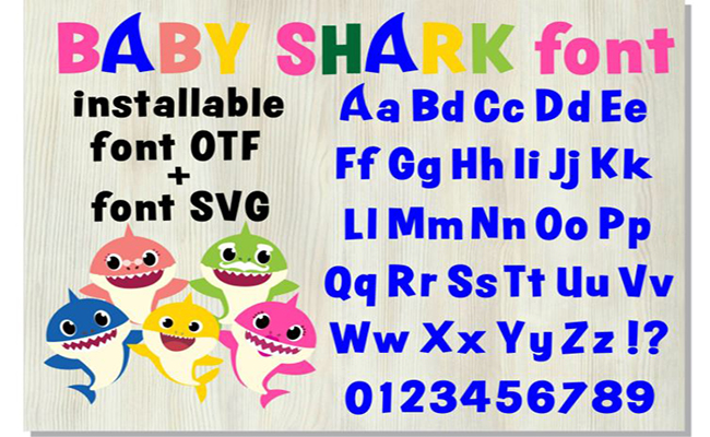 Baby Shark Font Free Download