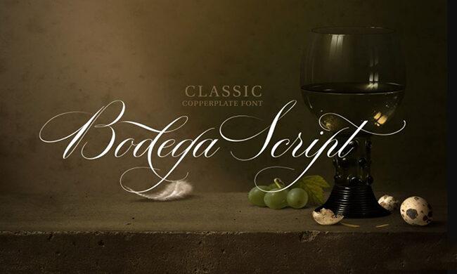 Bodega Script Font Family Free Download