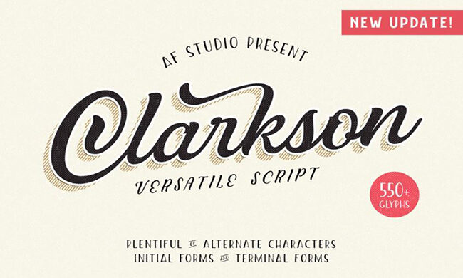 Clarkson Script Font Family Free Download