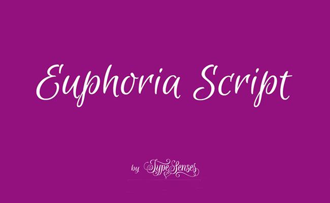 Euphoria Script Font Family Free Download