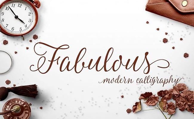 Fabulous Script Font Family Free Download