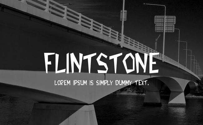 Flintstones Font Family Free Download