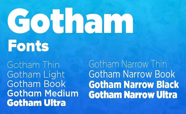 Gotham-Narrow-Font-Family-Download