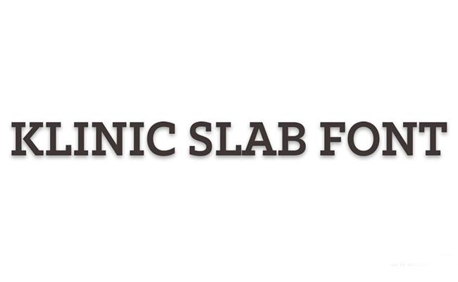 Klinic Slab Font Family Free Download