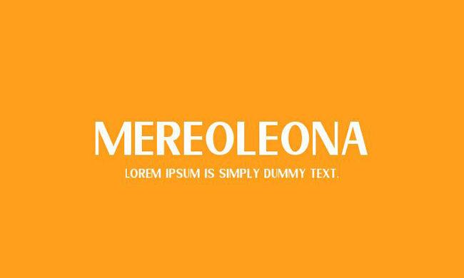 Mereoleona Font Family Free Download