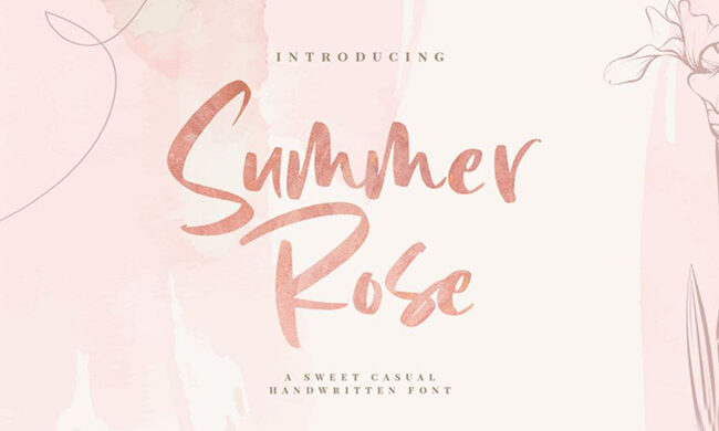 Summer Rose Font Family Free Download