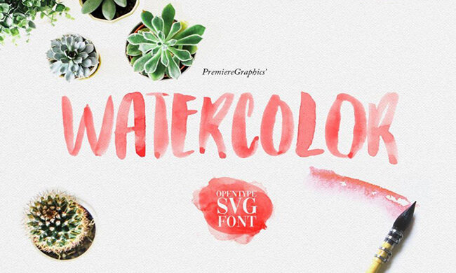 Watercolor Font Family Free Download