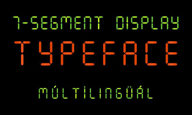 7 Segment Font Family Free Download