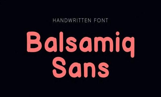 Balsamiq Sans Font Family Free Download
