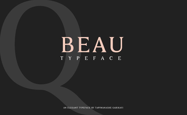 Beau Font Family Free Download